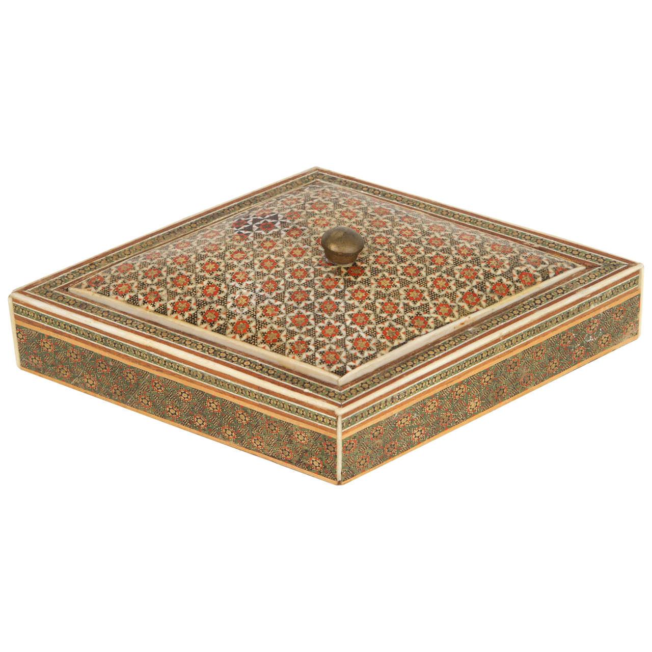 AngloIndian Micro Mosaic Inlaid Jewelry Box at 1stdibs