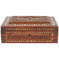 Carved Wood Jewelry Box 37 For Sale on 1stdibs