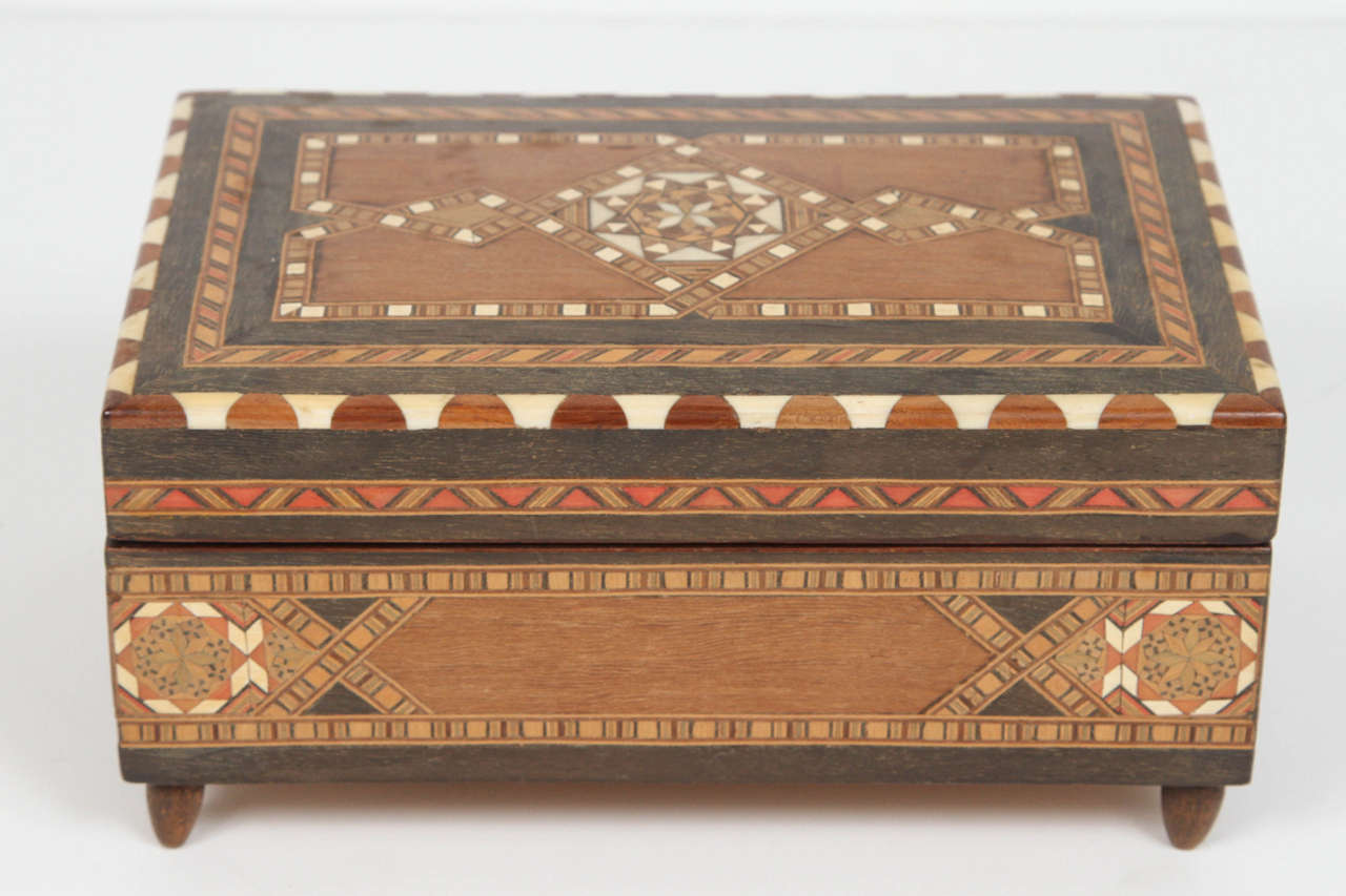 Spanish Inlaid Marquetry Jewelry Music Box For Sale At 1stdibs