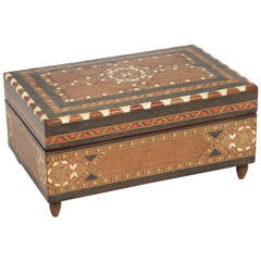 Spanish Inlaid Marquetry Jewelry Music Box