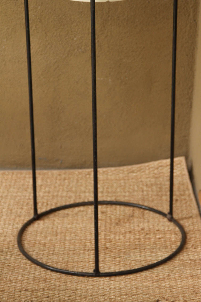 Tall Black Metal Plant Stand At 1stdibs