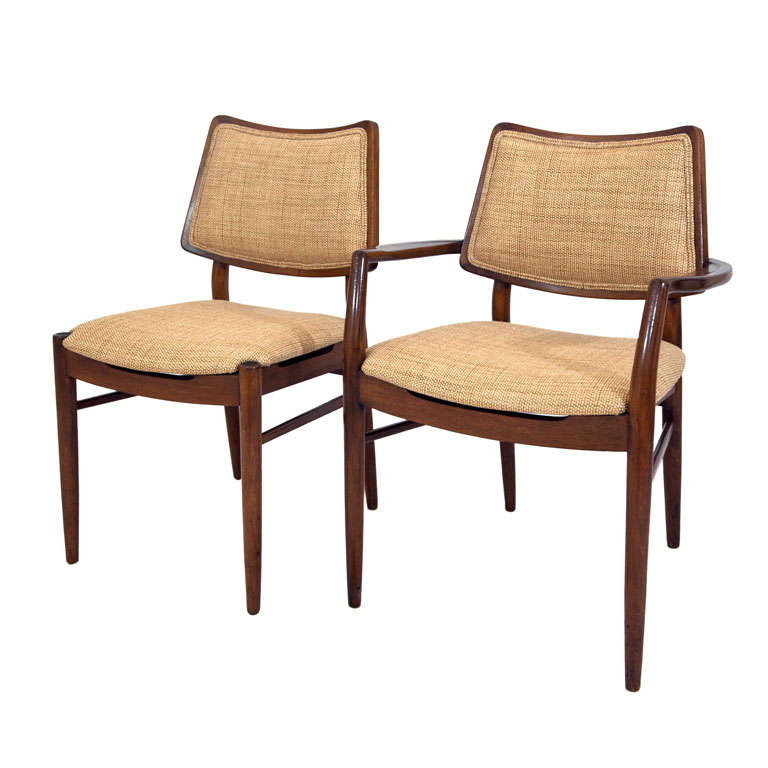 Six maple dining chairs s at stdibs