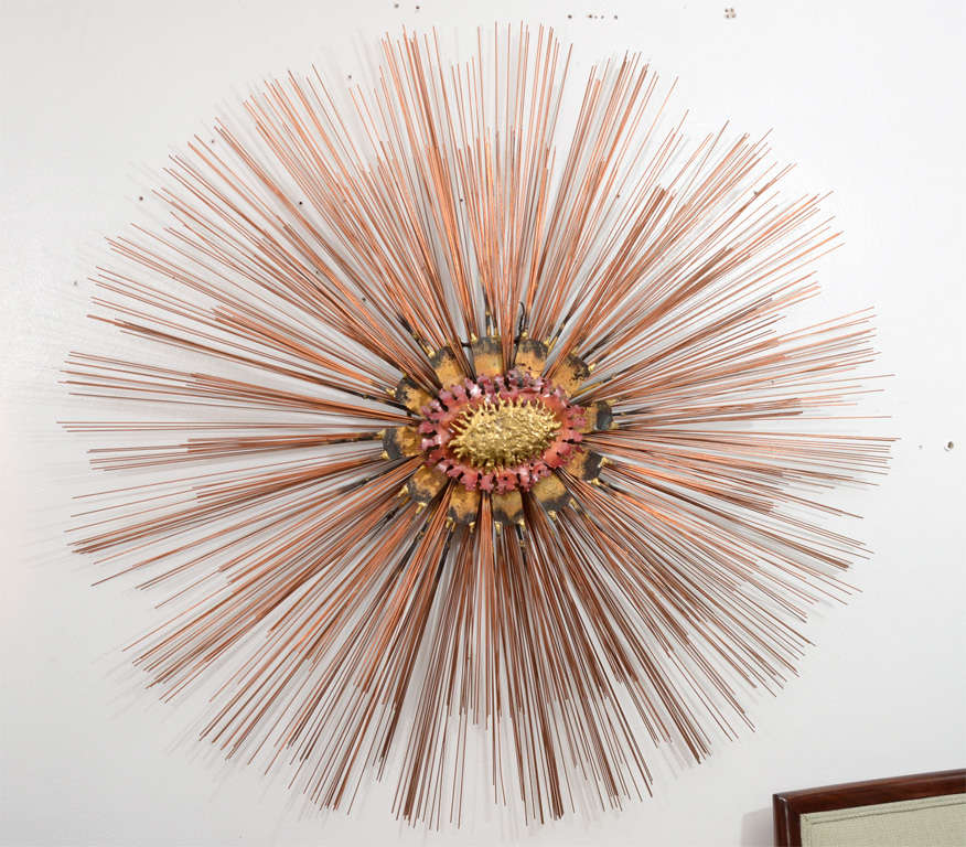 Sunburst wall sculpture by william friedle at 1stdibs for Sunburst wall art