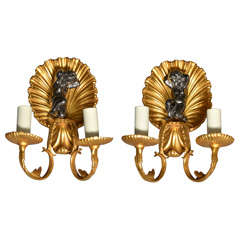 Great Pair of Bagues Sconces
