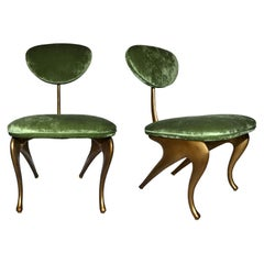 Rare and Incredible Pair of Armchairs Designed by Jordan Mozer