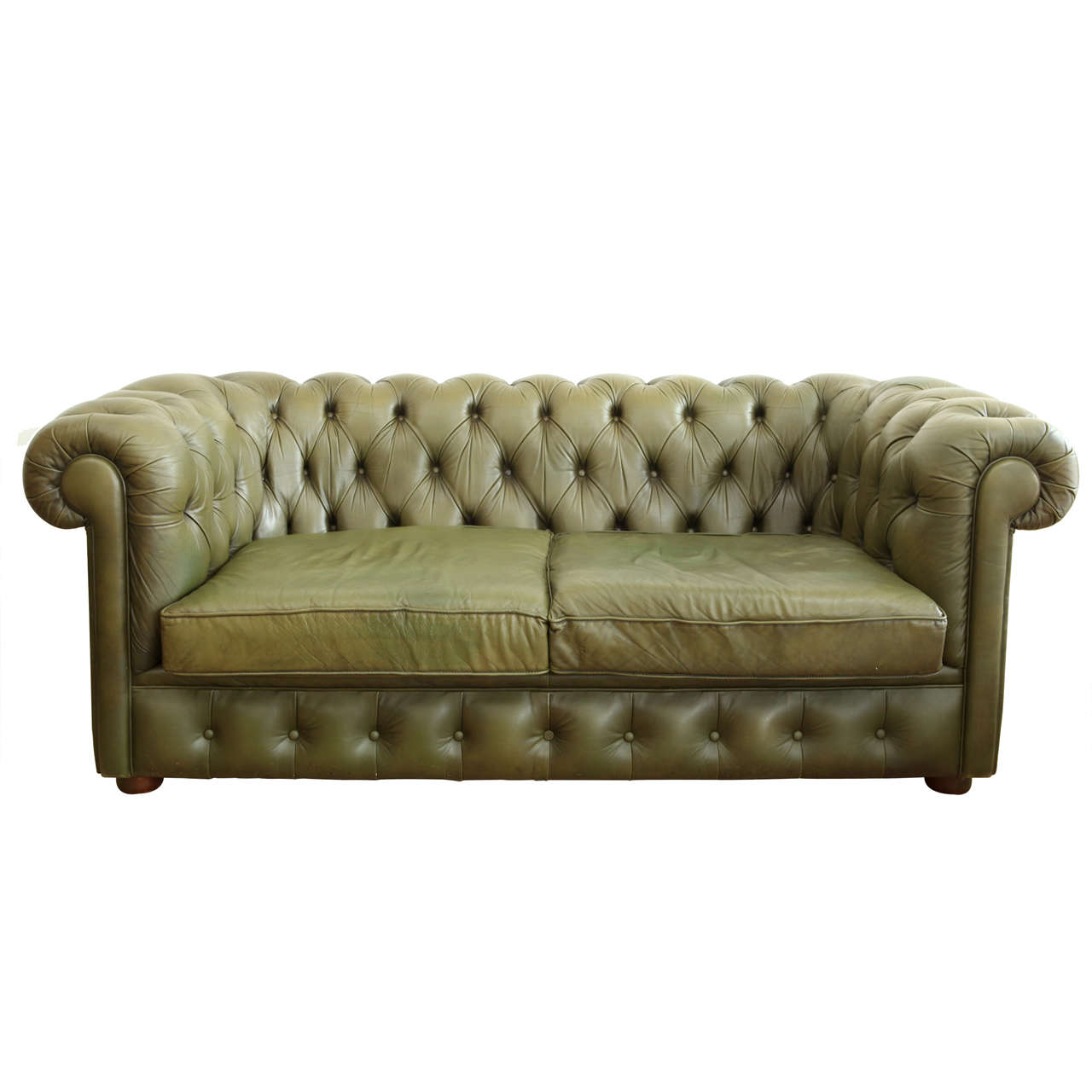 Leather Chesterfield Sofa at 1stdibs