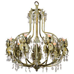 Pair of Mid-Century Painted French Chandeliers