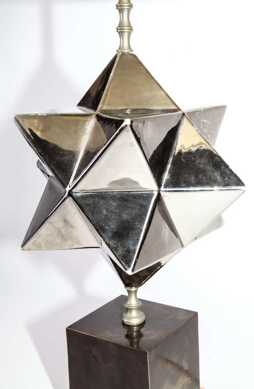 Italian Zaccagnini Firenze ceramic  Table Lamp , 1940 For Sale