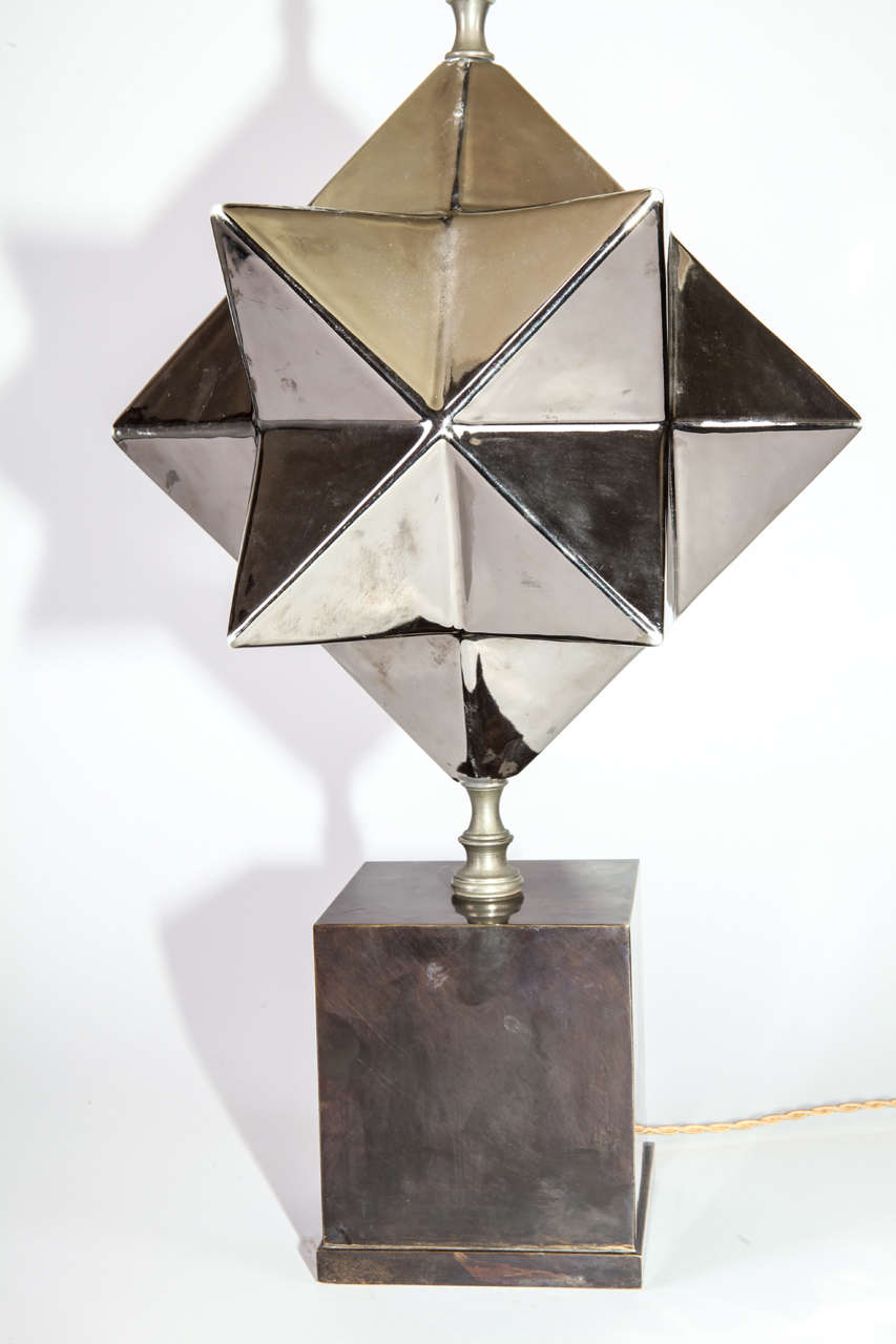 Zaccagnini Firenze ceramic  Table Lamp , 1940 In Good Condition For Sale In Firenze, IT