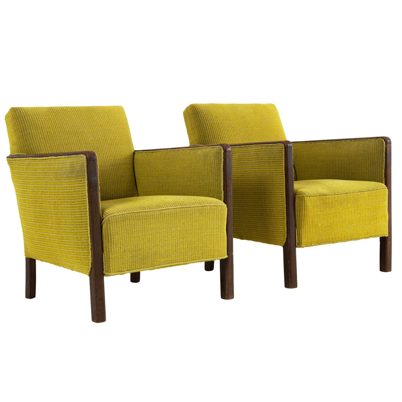 Pair of Modern Danish Easy Chairs 1950s at 1stdibs