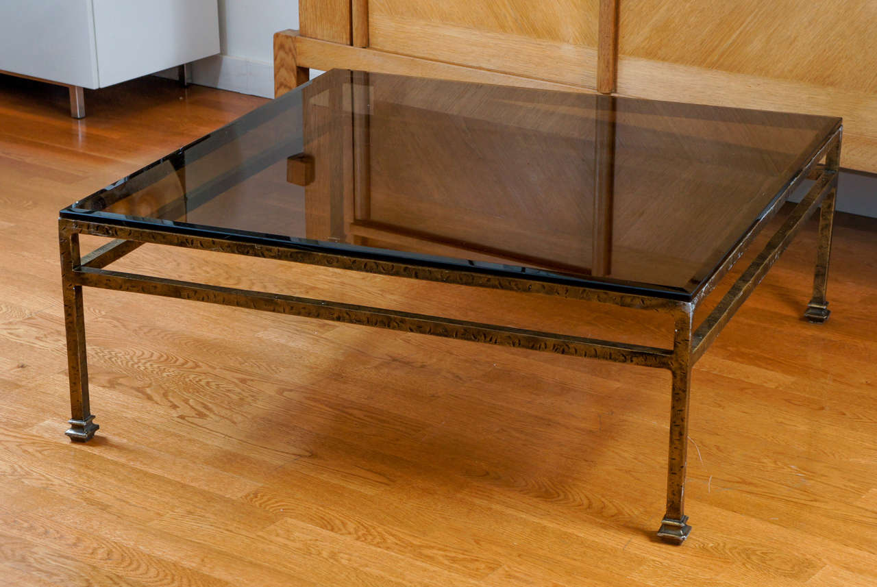 Smoked Glass Cocktail Table At 1stdibs
