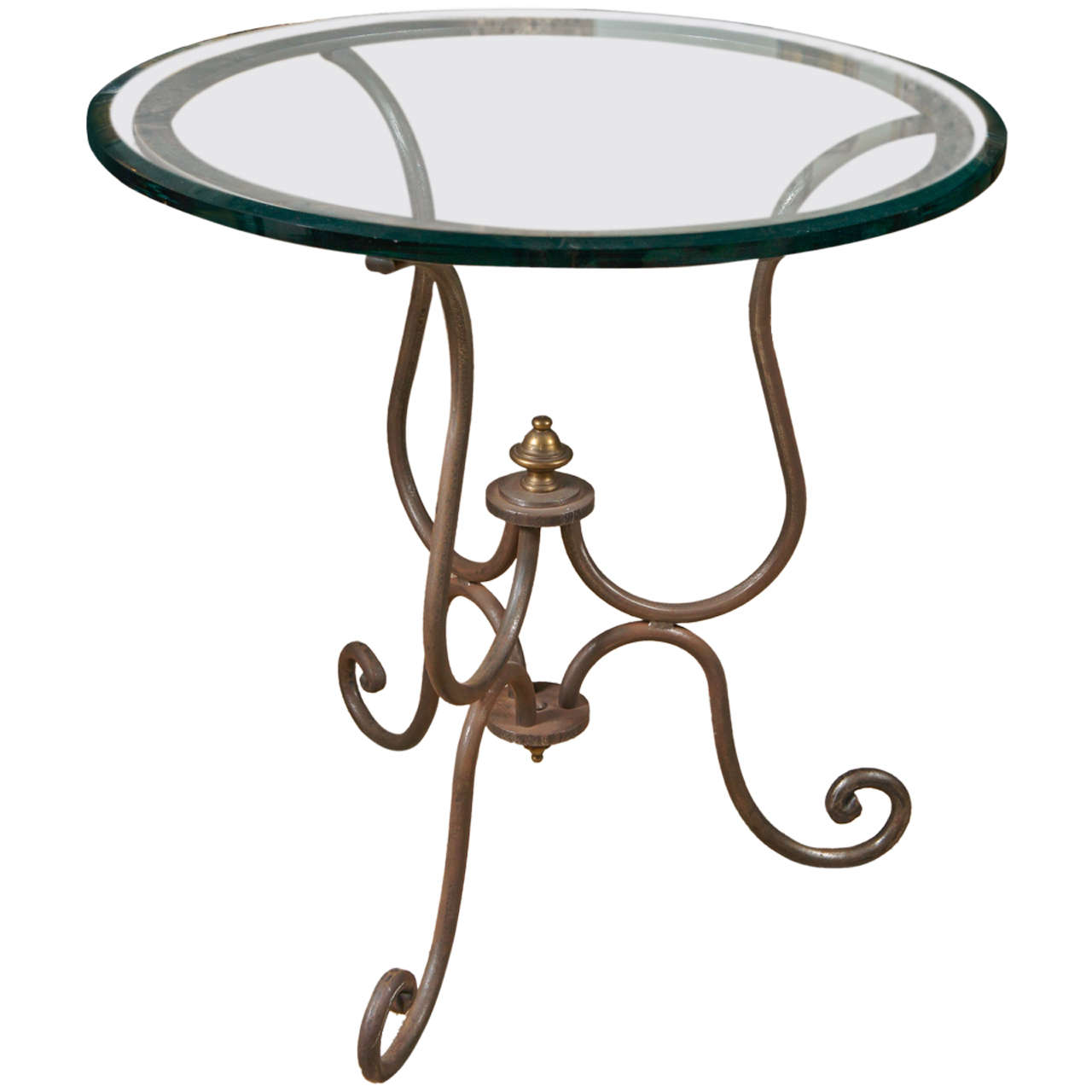 Scroll Iron End Table For Sale