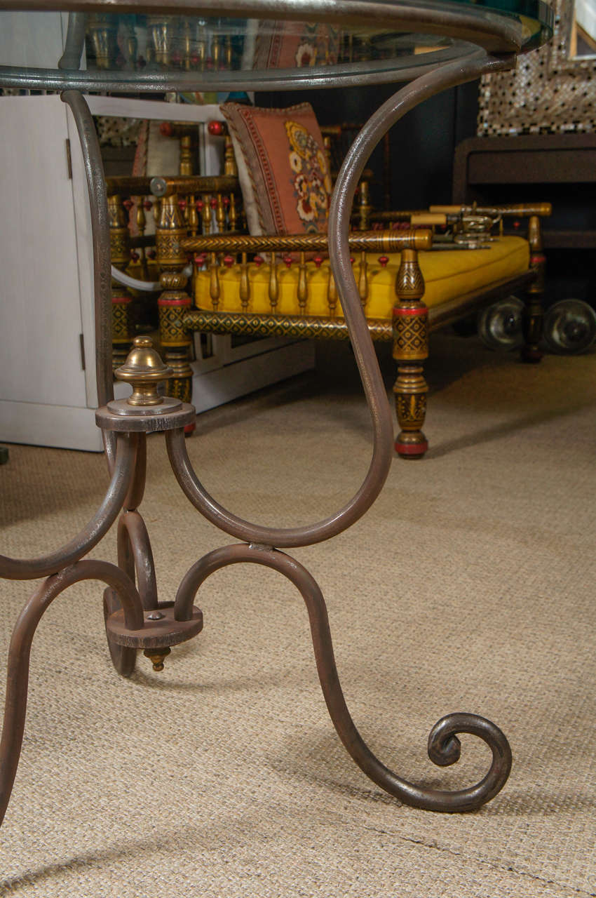 Scroll Iron End Table 5