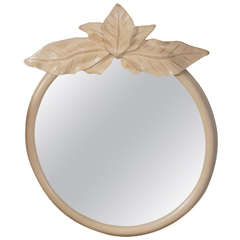Circular Mirror with a Palm Leaf Motif
