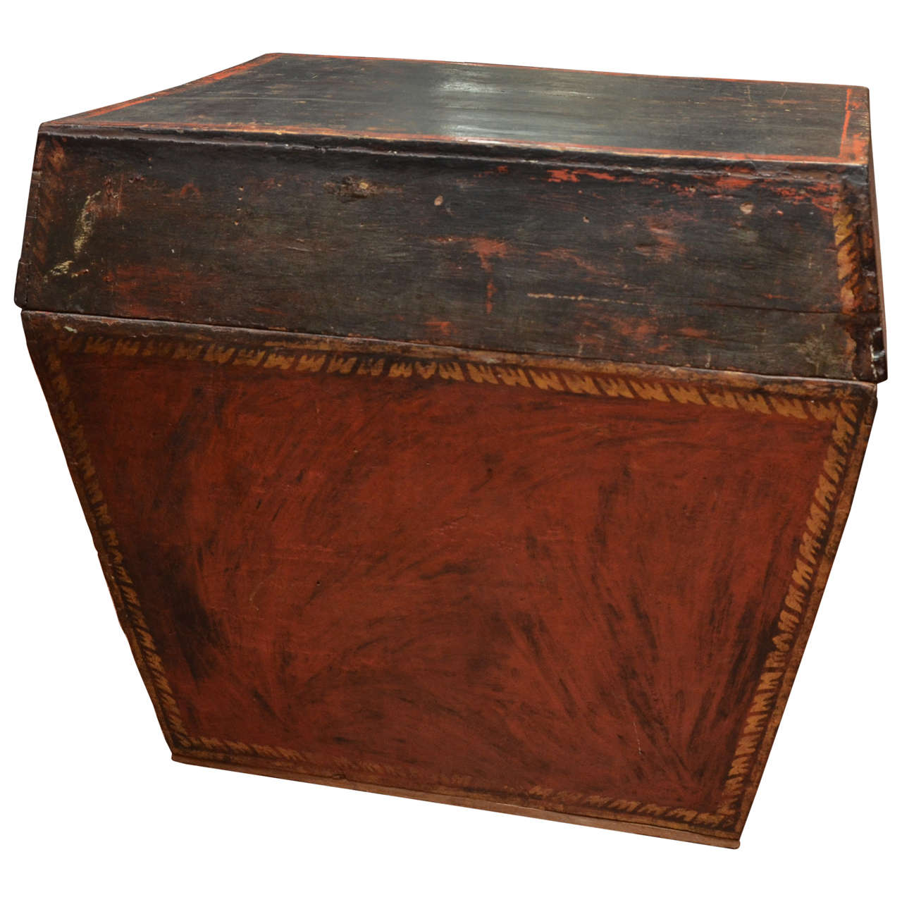 Late 18th Century Burmese Temple Book Storage Trunk in Original Lacquer For Sale
