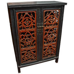 Qing Dynasty Shanxi Lacquered Kitchen Storage Cabinet