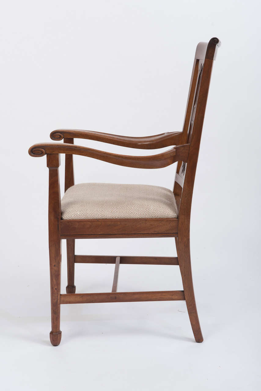 arthur simpson of kendal, set of eight walnut dining chairs