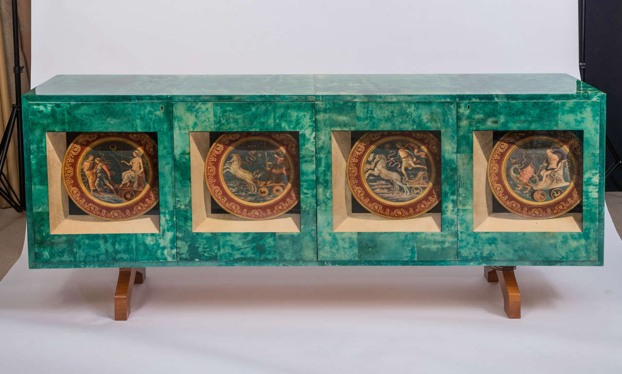 Important Side Cabinet by Aldo Tura at 1stdibs