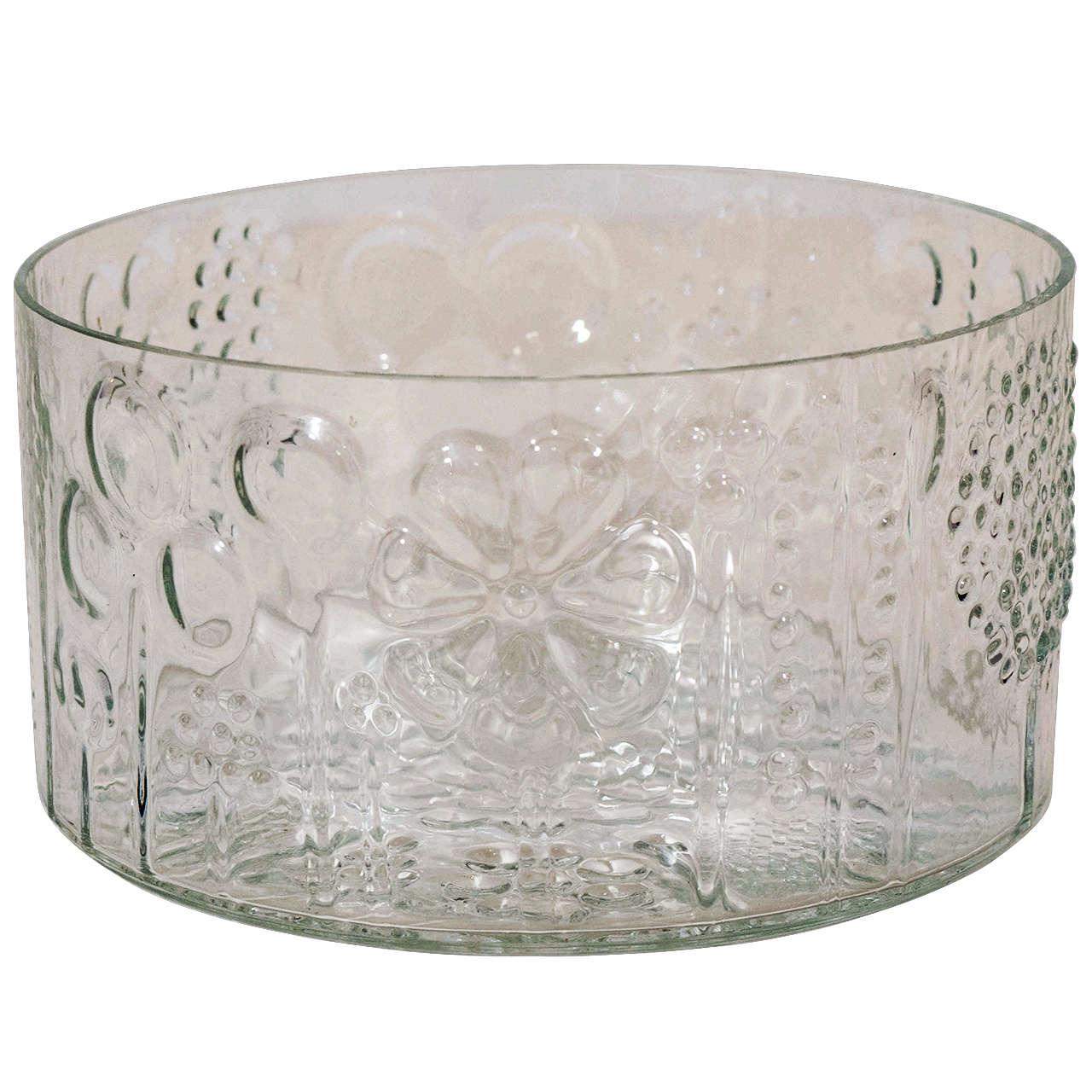 Art Glass Bowl by Oiva Toikka for Iittala Finland