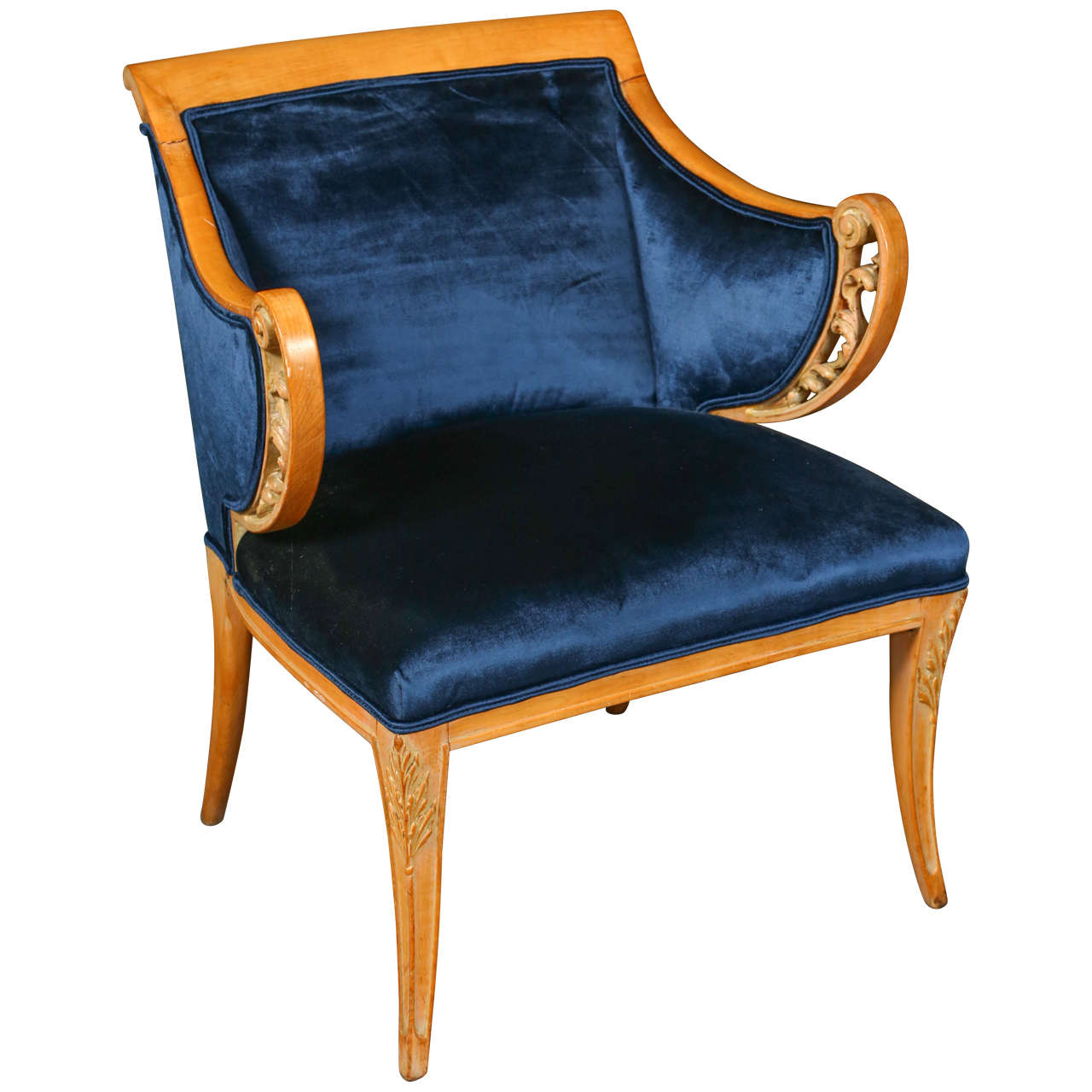 Glamorous Side Chair in the Hollywood Regency Style at 1stdibs