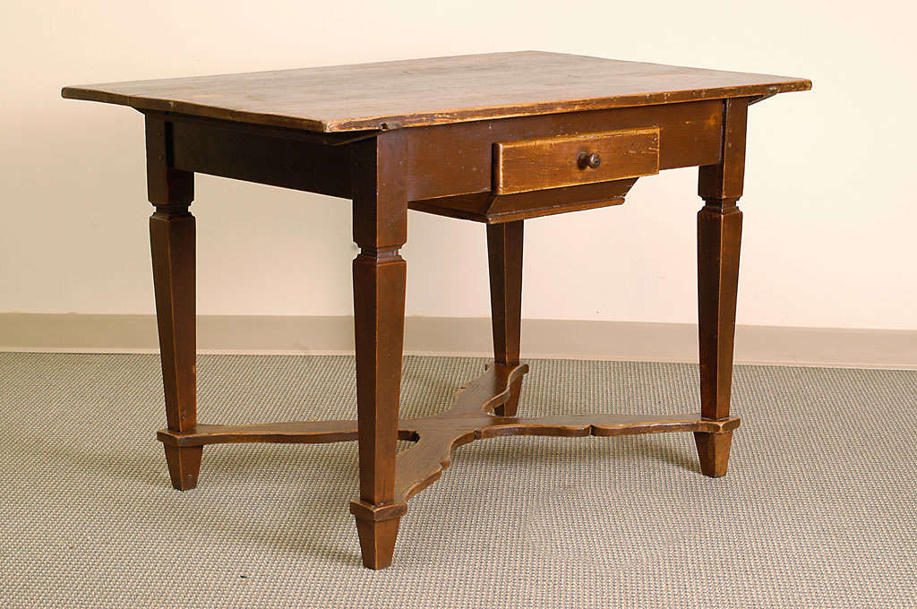 Bon A Beautiful Completely Original Bakeru0027s Table Featuring All Mortice, Tenon  And Pegged Construction To The