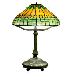 Tiffany Jewelled Feather Table Lamp
