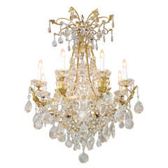Fine German Eight-Light Bronze Chandelier