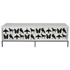 Limited Edition Credenza with Hand-Painted Doors by Dylan Egon