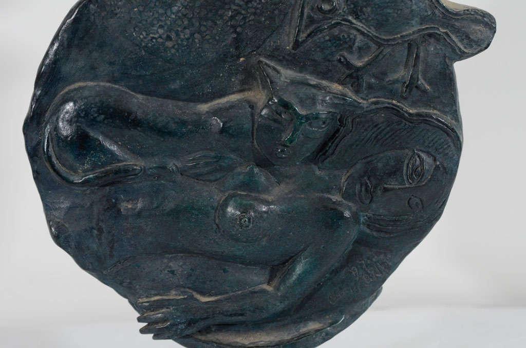 Belgium Solid Bronze Sculpture Signed