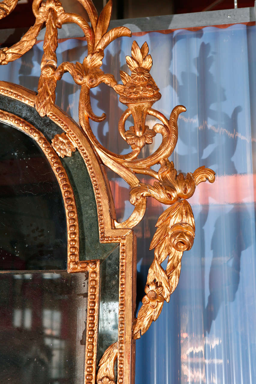Carved Neoclassical Mirror For Sale