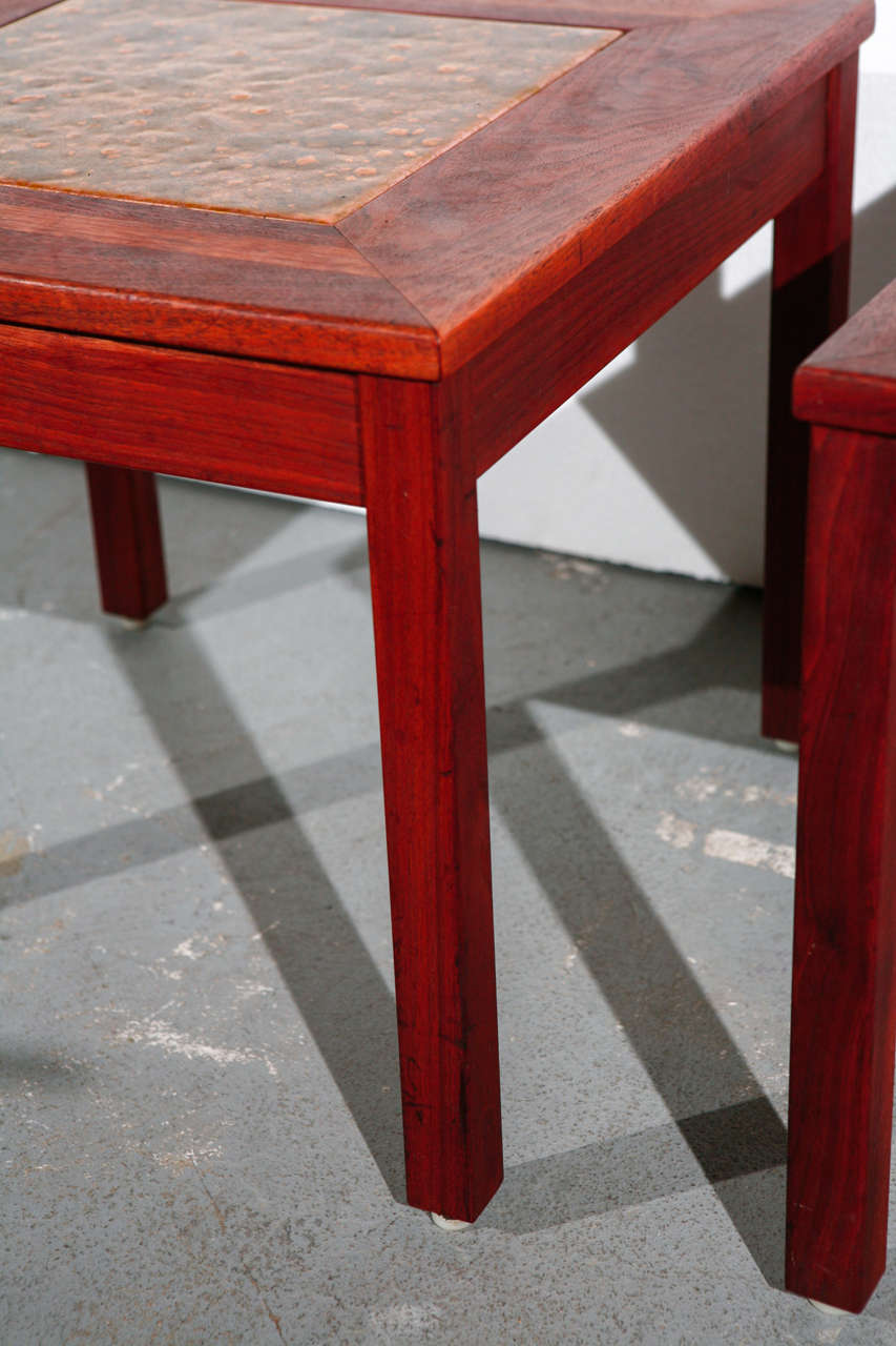Mid-20th Century Pair of Brown Saltman End Tables For Sale
