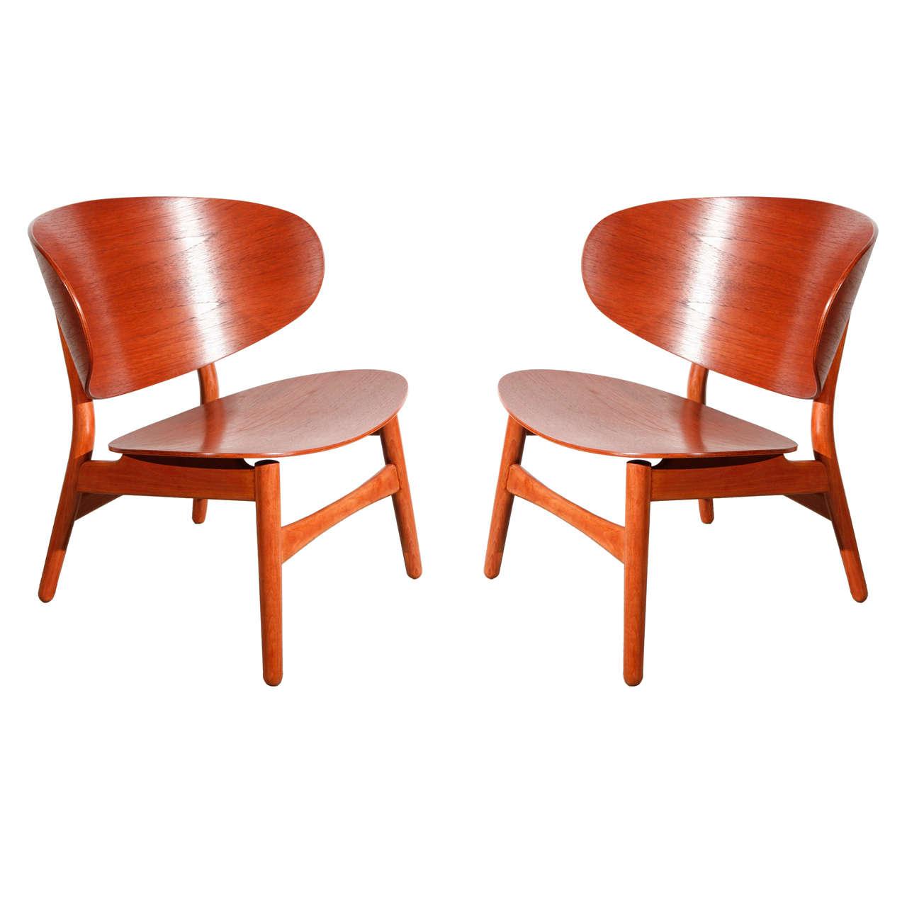 Pair Of Hans Wegner Shell Chairs At 1stdibs