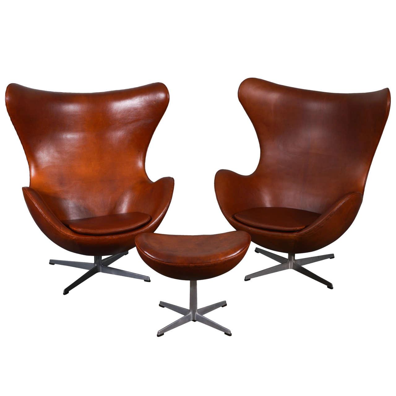 arne jacobsen egg chair and ottoman at 1stdibs. Black Bedroom Furniture Sets. Home Design Ideas