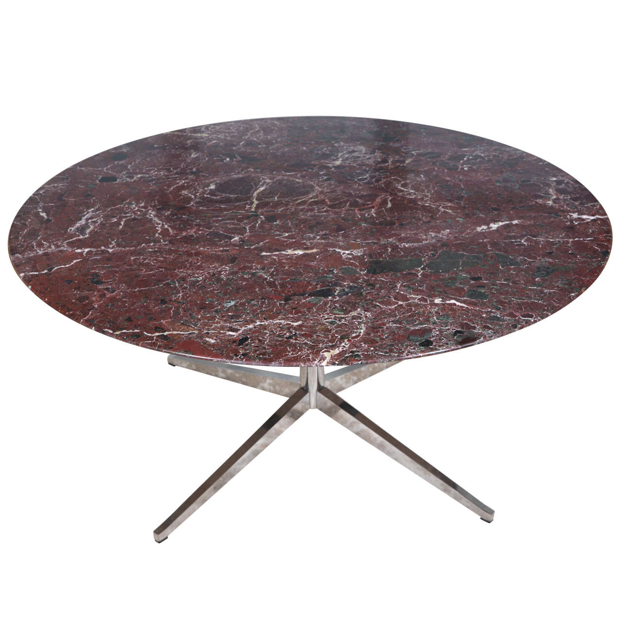 Florence Knoll Round Marble Top Dining Table at 1stdibs