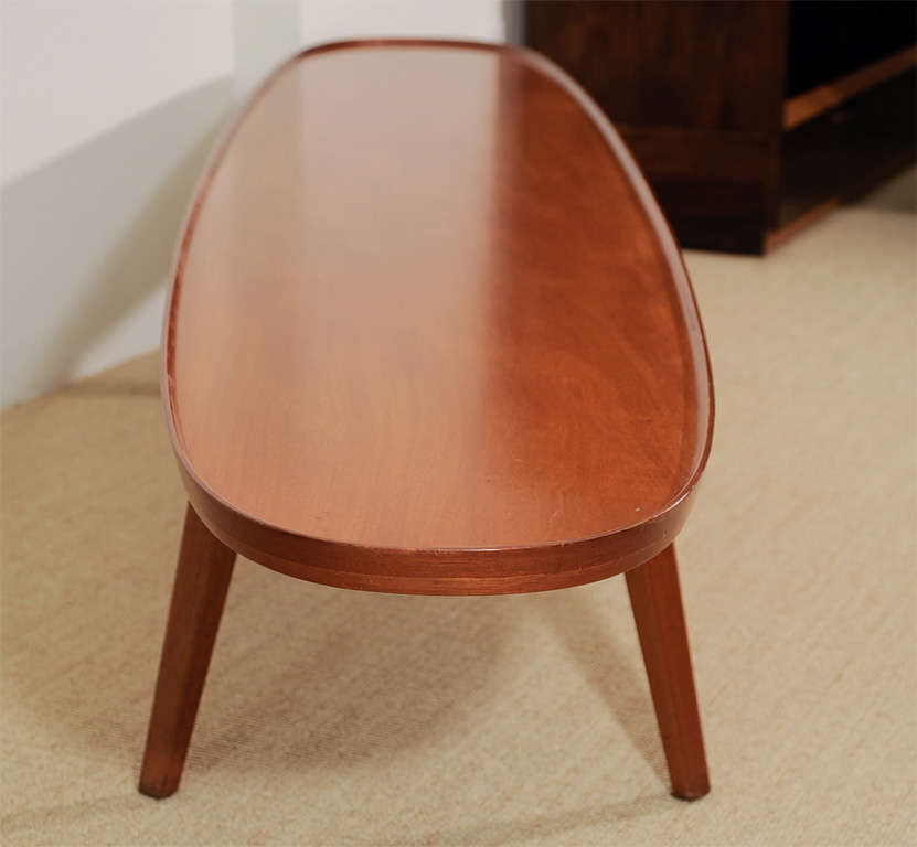 An Ed Wormley for Dunbar Walnut Veneer Surfboard Low Table. image 4