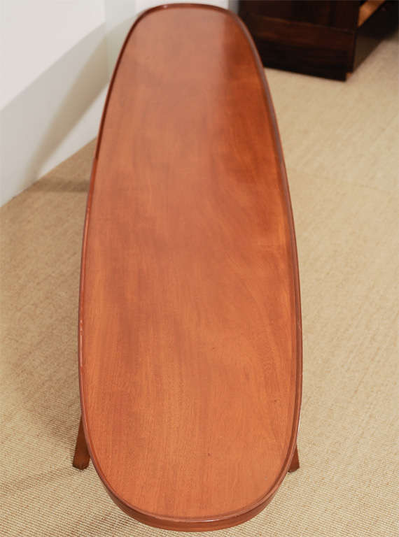 An Ed Wormley for Dunbar Walnut Veneer Surfboard Low Table. image 5