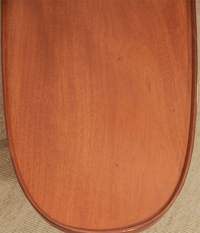 An Ed Wormley for Dunbar Walnut Veneer Surfboard Low Table. image 6