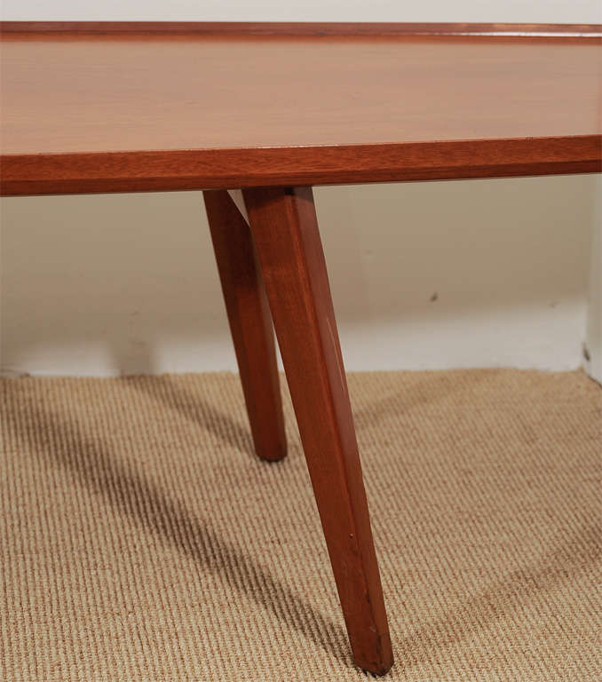 An Ed Wormley for Dunbar Walnut Veneer Surfboard Low Table. image 8