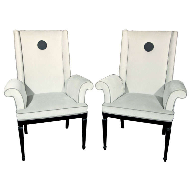 Pair napoleon 111 pull up chairs at 1stdibs for Outdoor furniture quad cities