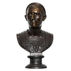 Patinated Bronze Bust of Julius Caesar