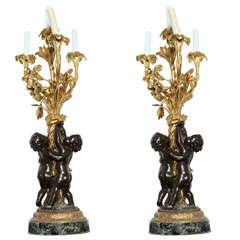 Pair Of Louis Xvi Style Egyptian Revival Ormolu Bronze