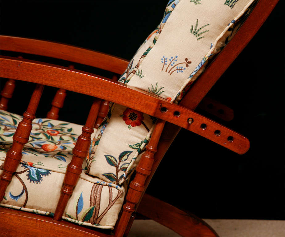 Arts and Crafts Mahogany armchair with adjustable back ...