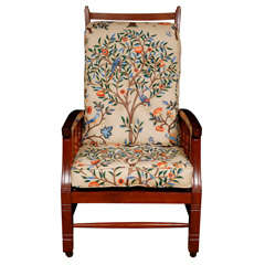 Arts and Crafts mahogany armchair with adjustable back, England circa 1870