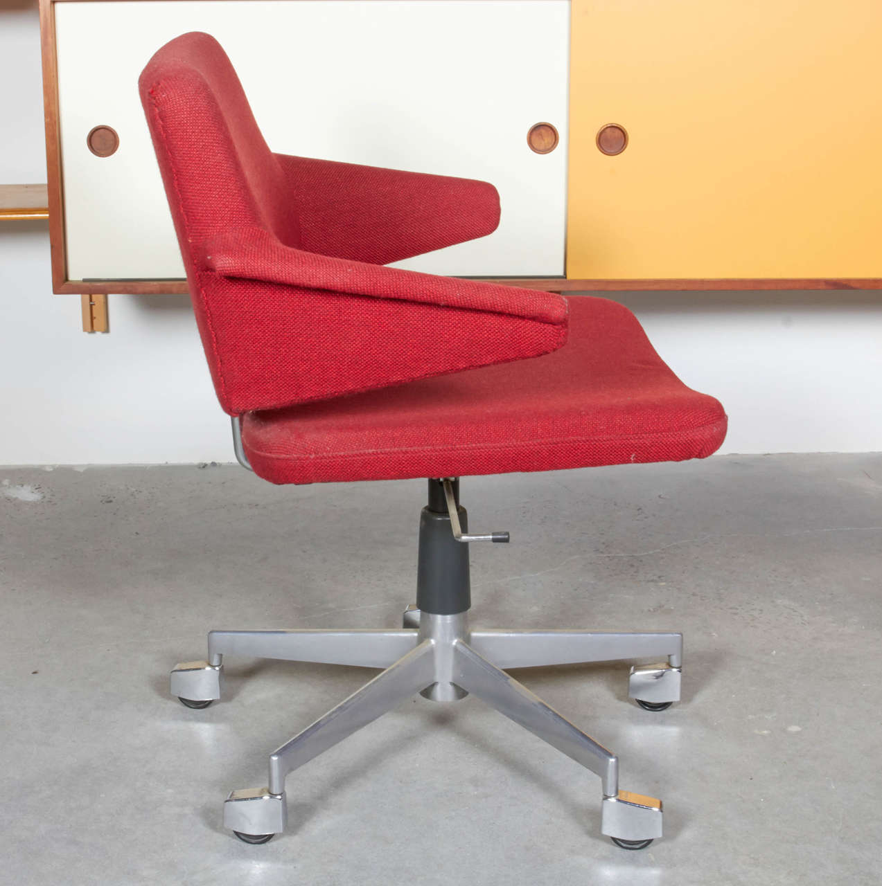 Desk Chair by Kevi on Casters Danish at 1stdibs