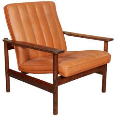 Norwegian Leather Armchair, No. 1001 by Sven Ivar Dysthe