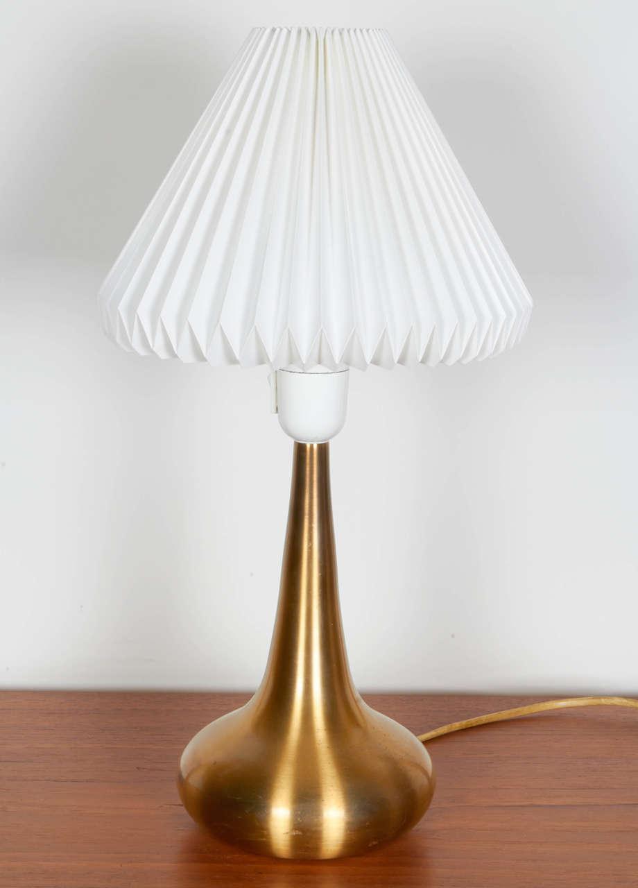 Jo Hammerborg Brass Table Lamp, Pair 2