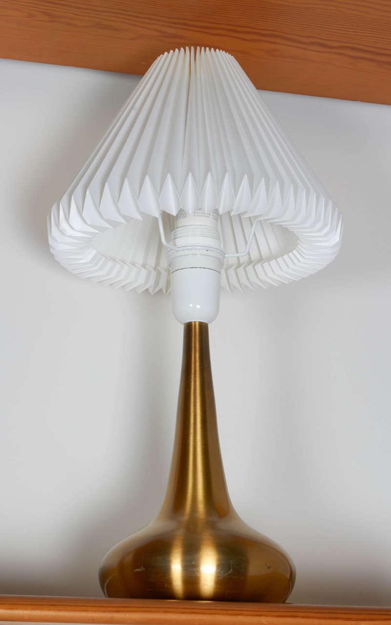 Jo Hammerborg Brass Table Lamp, Pair 4