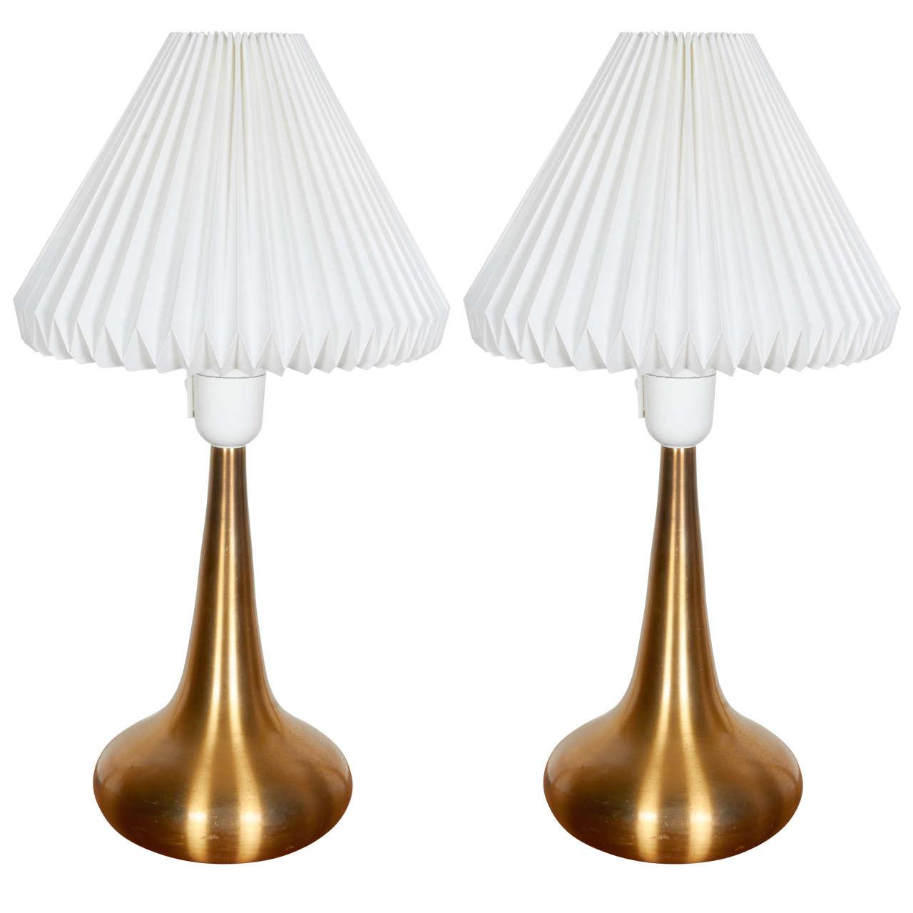 Jo Hammerborg Brass Table Lamp, Pair 1