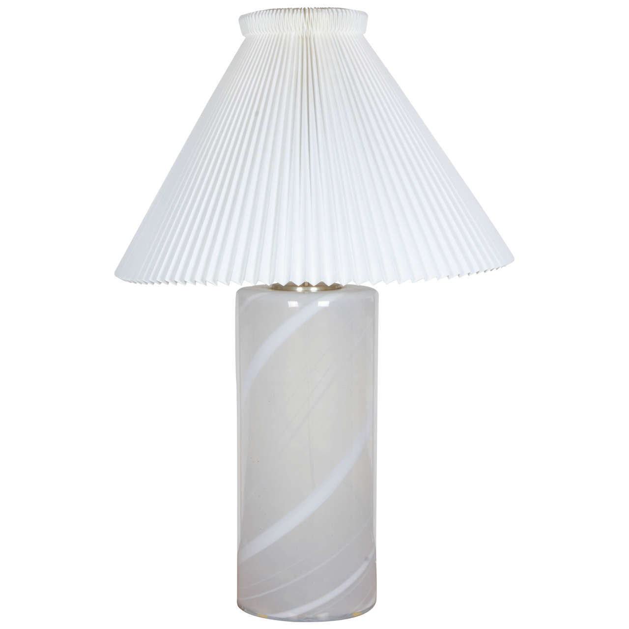 Danish Blown Glass Table Lamp 1