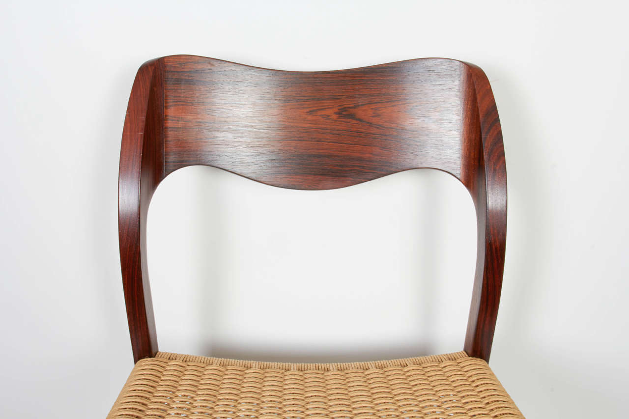 Niels Moller, No. 71 Rosewood Papercord Dining Chairs, Set Of 8 3